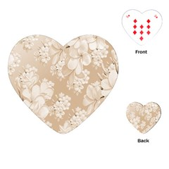 Delicate Floral Pattern,softly Playing Cards (Heart)