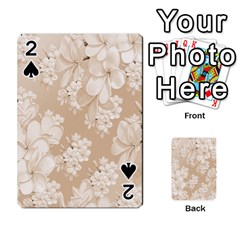 Delicate Floral Pattern,softly Playing Cards 54 Designs