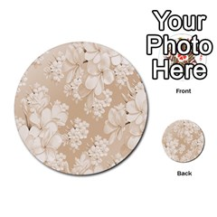 Delicate Floral Pattern,softly Multi Purpose Cards (round)