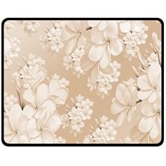 Delicate Floral Pattern,softly Fleece Blanket (Medium)