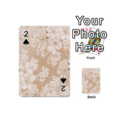 Delicate Floral Pattern,softly Playing Cards 54 (Mini)