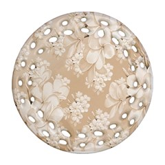 Delicate Floral Pattern,softly Round Filigree Ornament (2side)
