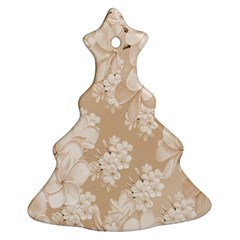 Delicate Floral Pattern,softly Christmas Tree Ornament (2 Sides)
