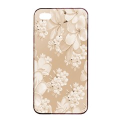 Delicate Floral Pattern,softly Apple iPhone 4/4s Seamless Case (Black)