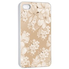 Delicate Floral Pattern,softly Apple iPhone 4/4s Seamless Case (White)