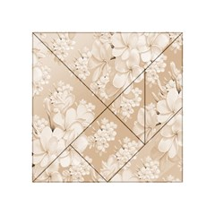 Delicate Floral Pattern,softly Acrylic Tangram Puzzle (4  X 4 )