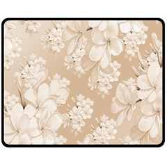 Delicate Floral Pattern,softly Double Sided Fleece Blanket (medium)