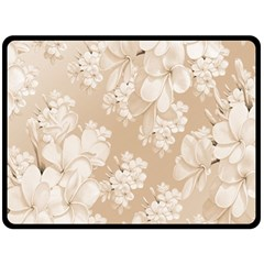 Delicate Floral Pattern,softly Double Sided Fleece Blanket (Large)