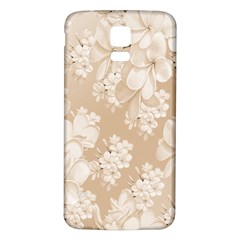 Delicate Floral Pattern,softly Samsung Galaxy S5 Back Case (white)