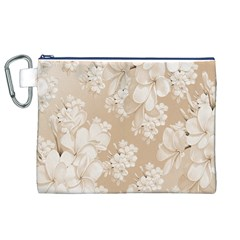Delicate Floral Pattern,softly Canvas Cosmetic Bag (XL)