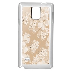 Delicate Floral Pattern,softly Samsung Galaxy Note 4 Case (White)