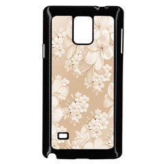 Delicate Floral Pattern,softly Samsung Galaxy Note 4 Case (Black)
