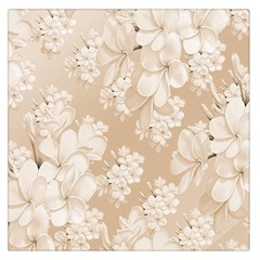 Delicate Floral Pattern,softly Large Satin Scarf (Square)