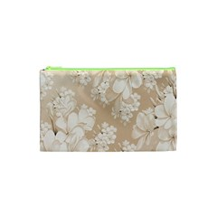 Delicate Floral Pattern,softly Cosmetic Bag (XS)