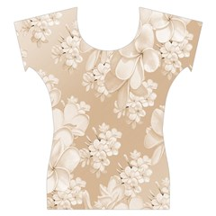 Delicate Floral Pattern,softly Women s Cap Sleeve Top