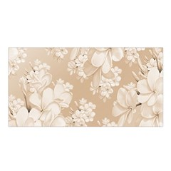 Delicate Floral Pattern,softly Satin Shawl