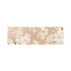 Delicate Floral Pattern,softly Satin Scarf (Oblong)
