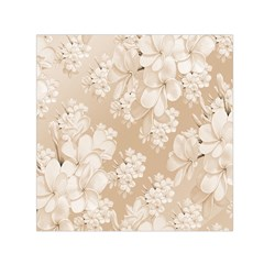 Delicate Floral Pattern,softly Small Satin Scarf (Square)