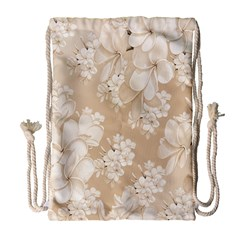Delicate Floral Pattern,softly Drawstring Bag (Large)