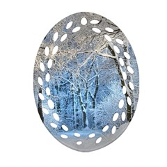 Another Winter Wonderland 1 Oval Filigree Ornament (2-Side)