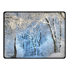 Another Winter Wonderland 1 Double Sided Fleece Blanket (Small)