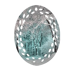 Another Winter Wonderland 2 Oval Filigree Ornament (2-Side)