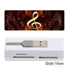 Decorative Cllef With Floral Elements Memory Card Reader (Stick)