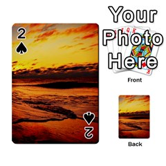 Stunning Sunset On The Beach 2 Playing Cards 54 Designs
