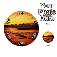Stunning Sunset On The Beach 2 Playing Cards 54 (Round)