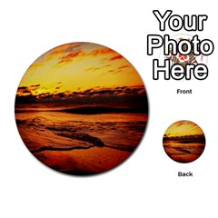 Stunning Sunset On The Beach 2 Multi-purpose Cards (Round)