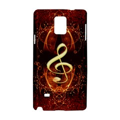 Decorative Cllef With Floral Elements Samsung Galaxy Note 4 Hardshell Case