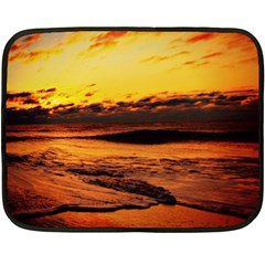 Stunning Sunset On The Beach 2 Fleece Blanket (Mini)