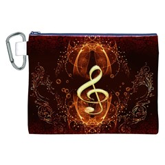 Decorative Cllef With Floral Elements Canvas Cosmetic Bag (XXL)
