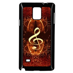Decorative Cllef With Floral Elements Samsung Galaxy Note 4 Case (Black)