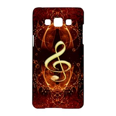 Decorative Cllef With Floral Elements Samsung Galaxy A5 Hardshell Case