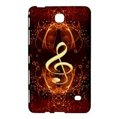 Decorative Cllef With Floral Elements Samsung Galaxy Tab 4 (7 ) Hardshell Case