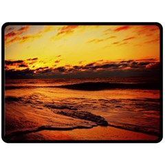 Stunning Sunset On The Beach 2 Fleece Blanket (Large)