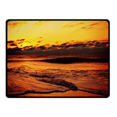 Stunning Sunset On The Beach 2 Fleece Blanket (Small)