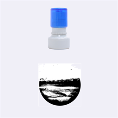 Stunning Sunset On The Beach 2 Rubber Round Stamps (Small)