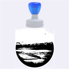 Stunning Sunset On The Beach 2 Rubber Round Stamps (large)