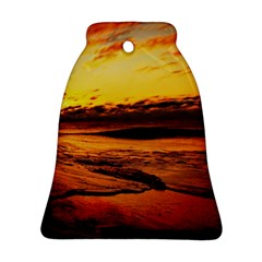 Stunning Sunset On The Beach 2 Bell Ornament (2 Sides)