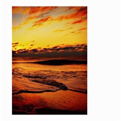 Stunning Sunset On The Beach 2 Small Garden Flag (Two Sides)