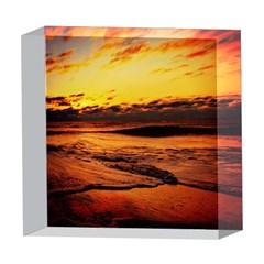 Stunning Sunset On The Beach 2 5  x 5  Acrylic Photo Blocks