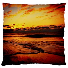 Stunning Sunset On The Beach 2 Large Flano Cushion Cases (Two Sides)