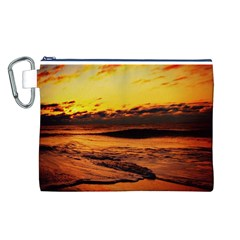 Stunning Sunset On The Beach 2 Canvas Cosmetic Bag (L)