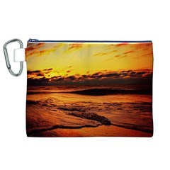 Stunning Sunset On The Beach 2 Canvas Cosmetic Bag (xl)