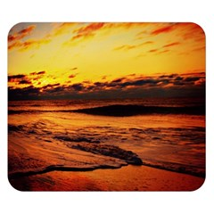 Stunning Sunset On The Beach 2 Double Sided Flano Blanket (Small)