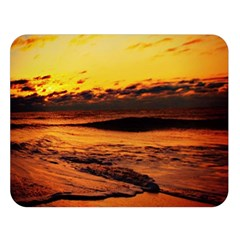 Stunning Sunset On The Beach 2 Double Sided Flano Blanket (large)