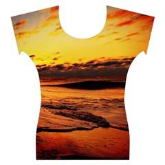 Stunning Sunset On The Beach 2 Women s Cap Sleeve Top