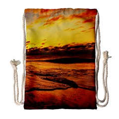 Stunning Sunset On The Beach 2 Drawstring Bag (large)